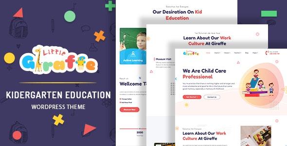Giraffe - Kindergarten Education WordPress Theme - Education WordPress
