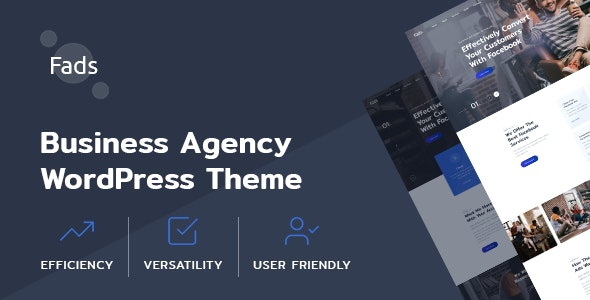 Fads - SMM Agency WordPress Theme - Business Corporate