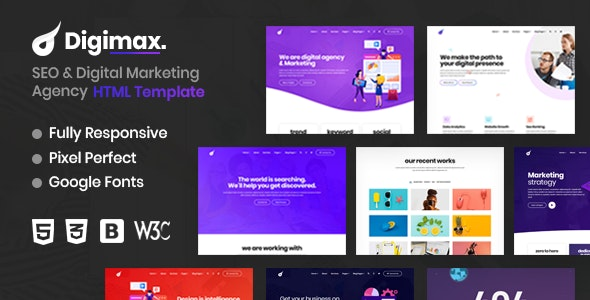Digimax - SEO & Digital Marketing Agency HTML Template - Marketing Corporate