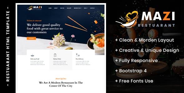 Download Mazi - Fast Food & Restaurant HTML Template