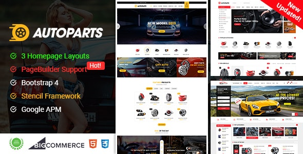 AutoParts - Responsive BigCommerce Theme With Page Builder Suppor