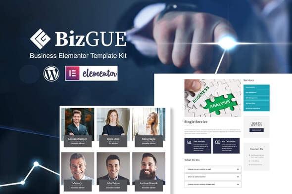BizGUE - Business Elementor Template Kit - Business & Services Elementor