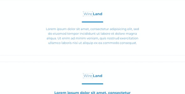 Wireland - Wireframe Library for Web Design Projects - Sketch Template