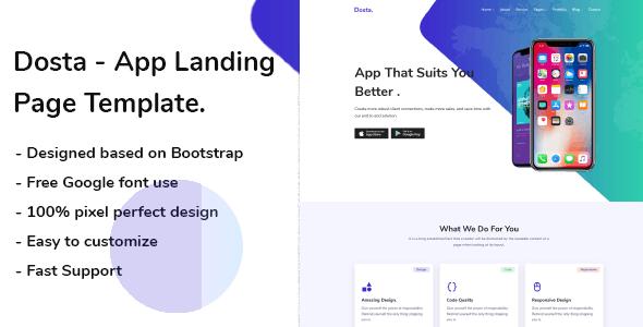 Download Dosta - App Landing Page