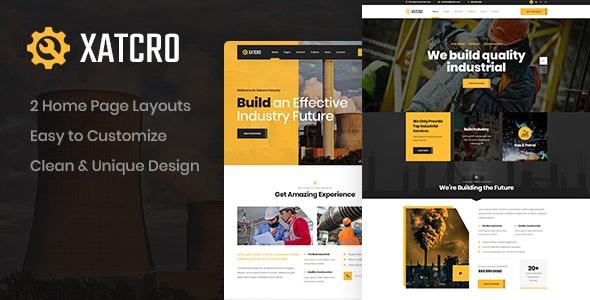Xatcro - Construction PSD Template - Business Corporate