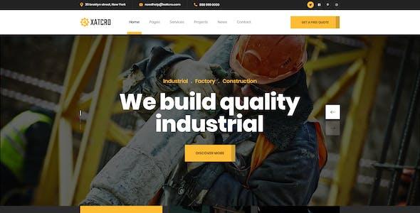 Xatcro - Construction PSD Template