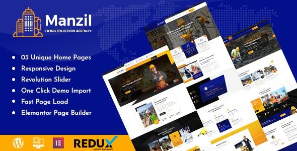 Download Manzil | Construction and Building WordPress Theme