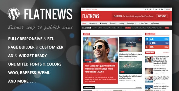 Flatnews Responsive Magazine Wordpress Theme By Tiennguyenvan Themeforest
