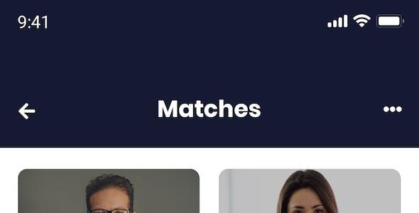 Dateheart - Dating App PSD Template