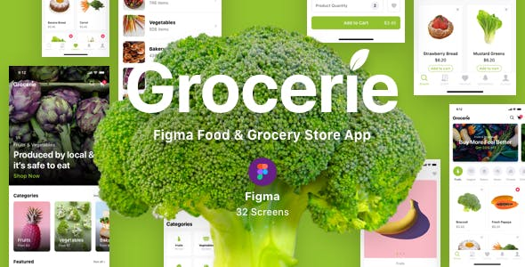 Grocerie - Figma Food & Grocery Store App