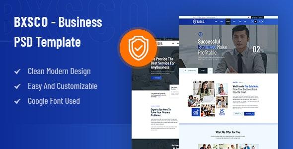 BXSCO - Business Multipurpose PSD Template - Business Corporate