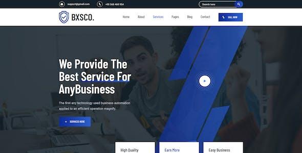 BXSCO - Business Multipurpose PSD Template
