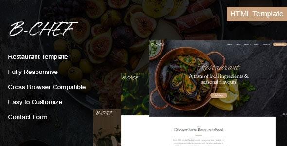 B-Chef - Restaurant HTML Template - Food Retail