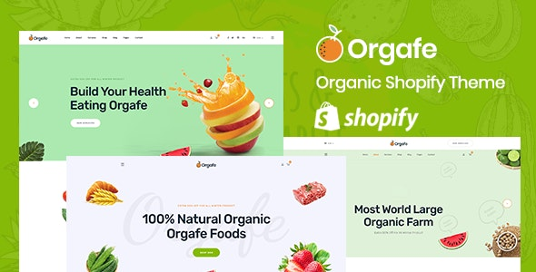 Orgafe - Organic Food Shopify Template - Shopify eCommerce