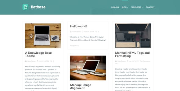 Flatbase - A responsive Knowledge Base/Wiki Theme