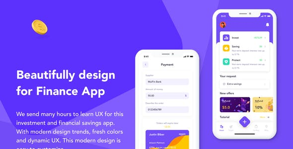 MaiFin - Finance App UI Kit
