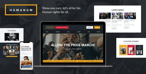 Humanum - Human Rights WordPress Theme - Activism Nonprofit