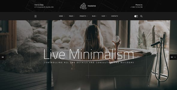 Theratio - Architecture & Interior Design Elementor WordPress Theme