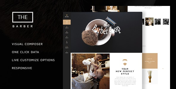 The Barber Shop - One Page Theme For Hair Salon - Health & Beauty Retail