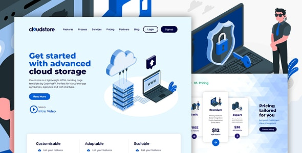 CLOUDSTORE - Multi-Purpose HTML Landing Page Template for Business and Startups - Business Corporate