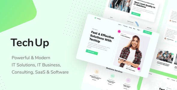 TechUp - Technology IT Solutions & Services Elementor Template Kit