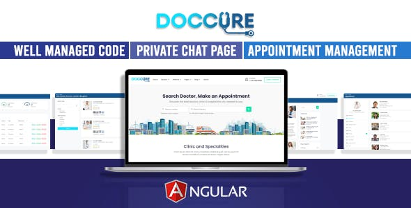 Download Doccure - Doctor Appointment Booking System Bootstrap Angular Template (Angular)