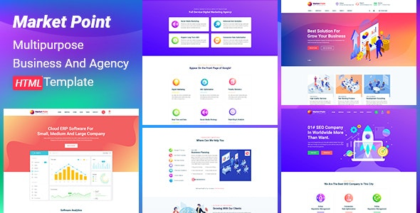 MarketPoint - Multipurpose Business And Agency HTML Template - Miscellaneous Site Templates