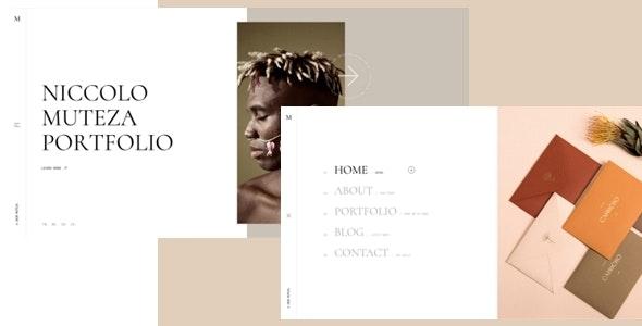 Muteza - Personal Portfolio HTML5 Template - Creative Site Templates
