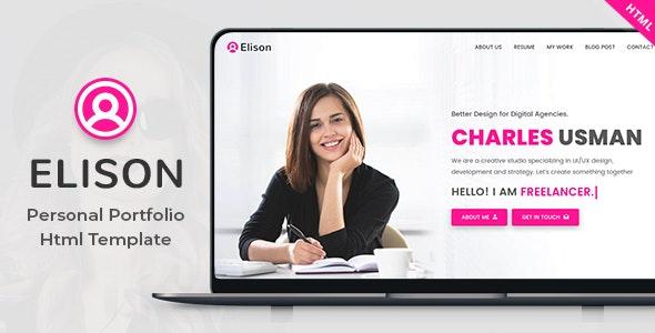 Elison - Portfolio HTML Template - Portfolio Creative