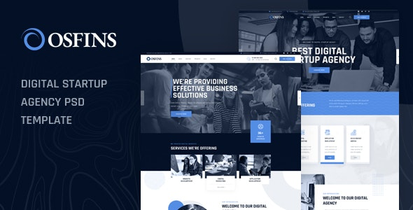 Osfins - Digital Startup Agency PSD Template - Business Corporate