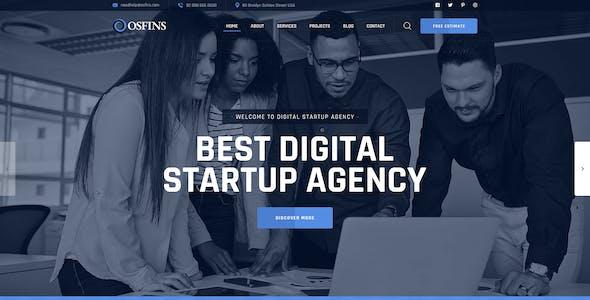 Osfins - Digital Startup Agency PSD Template