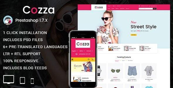 Cozza - Fashion Prestashop 1.7 Responsive Theme - Fashion PrestaShop
