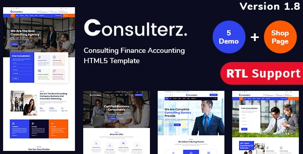 Consulterz - Consulting Finance Accounting + RTL Support - Business Corporate