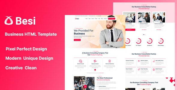 Besi - Business and Agency HTML Template - Business Corporate
