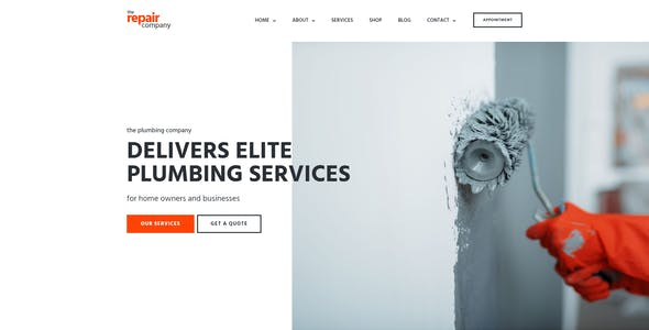 Renovirta - Plumbing & Repair Elementor Template Kit