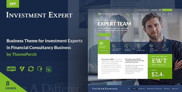 Investment Expert - Business Theme for Agencies in Financial Consultancy + RTL - Business Corporate