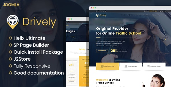 Drively - Driving School Joomla Template | Drivers - Business Corporate