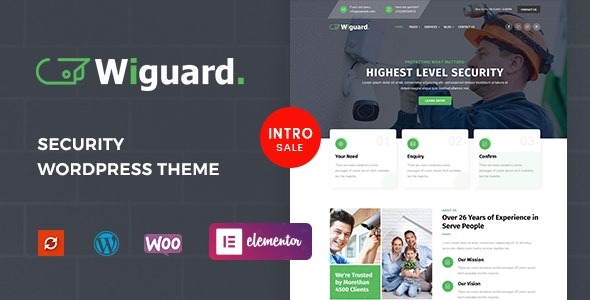 Wiguard - CCTV & Security WordPress Theme - Business Corporate