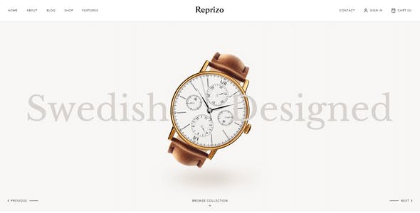 Reprizo - Jewelry & Watch Shop WordPress Theme