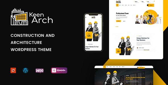 Keenarch - Building & Construction WordPress Theme - Business Corporate
