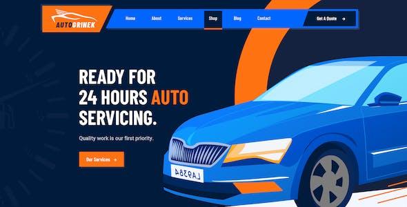 Autogrinek - Auto Service and Car Repair Figma Template