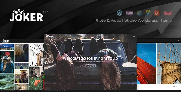 Joker - Photo & Video Portfolio WordPress Theme for Photographers - Photography Creative