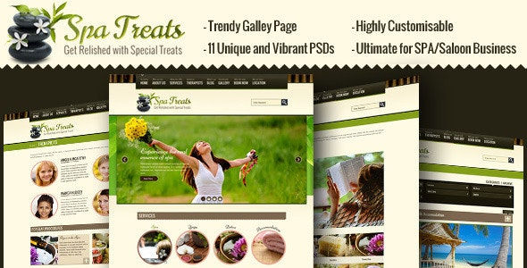 Spa Treats - Salon, Wellness PSD - Health & Beauty Retail
