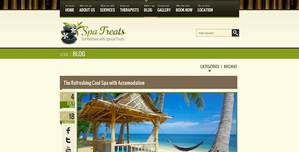 Spa Treats - Salon, Wellness PSD