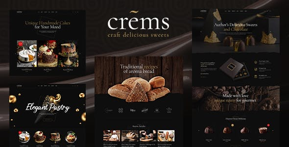 Download Crems - Bakery, Chocolate Sweets & Pastry WordPress Theme