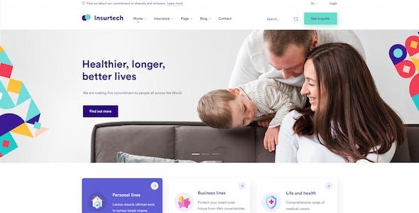 Insurtech - Insurance Agency PSD Template