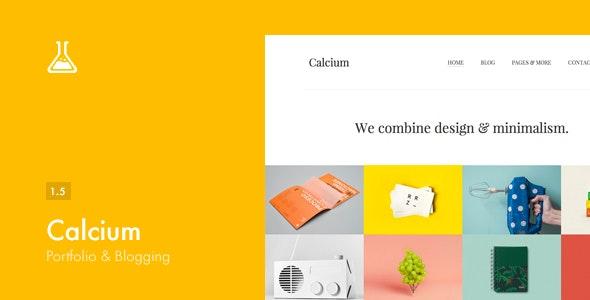 Calcium - Minimalist Portfolio & Blogging Theme - Personal Blog / Magazine