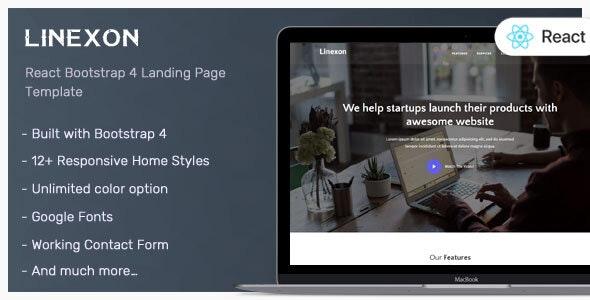 Linexon - React Landing Page Template - Corporate Site Templates