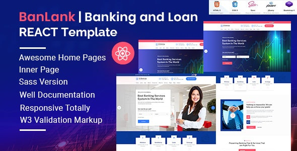 BanLank - Banking and Loan React Template - Business Corporate