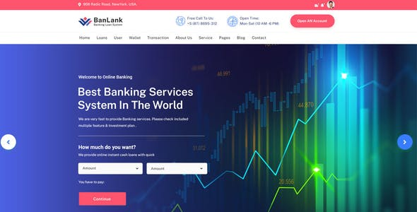 BanLank - Banking and Loan React Template